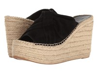 Marc Fisher Aida Black Kid Suede Women's Wedge Shoes