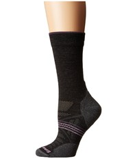 Smartwool Phd Outdoor Light Crew Charcoal Women's Crew Cut Socks Shoes Gray