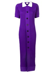 Simon Miller Buttoned Cardigan Dress Pink And Purple