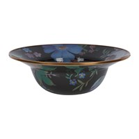 Mackenzie Childs Flower Market Enamel Serving Bowl Black