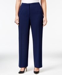 Kasper Plus Size Straight Leg Pants