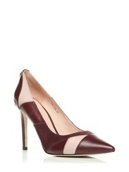 Moda In Pelle Calida Pointed Toe Stiletto Court Shoes Red