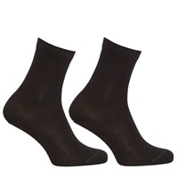 John Lewis Egyptian Cotton Ankle Socks Pack Of 2 Black