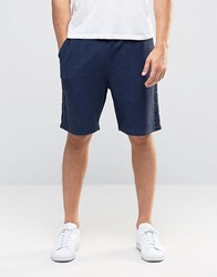 Asos Jersey Shorts With Taping In Navy Blue