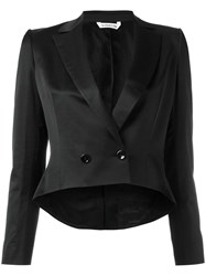 Tonello Cropped Dinner Blazer Women Cotton Spandex Elastane Cupro Viscose 40 Black