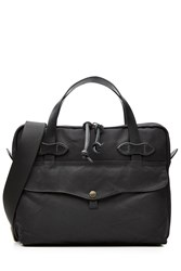 Filson Padded Tablet Briefcase With Leather Black