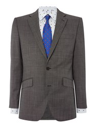New And Lingwood Chiswick Sb2 Notch Lapel Oxford Suit Jacket Grey