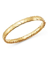 Bloomingdale's Polished Pebbled Bangle Bracelet In 14K Yellow Gold 100 Exclusive