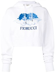 Fiorucci Angels Cropped Hoodie White