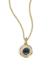 Ippolita Lollipop London Blue Topaz Diamond And 18K Yellow Gold Mini Pendant Necklace Gold Blue