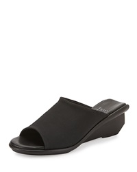 Jut Stretch Grosgrain Wedge Slide Eileen Fisher