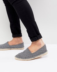 Asos Design Espadrilles In Black And White Pattern