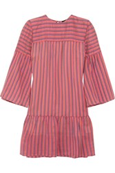 Vanessa Seward Danaide Striped Silk Jacquard Mini Dress Pink