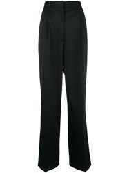 The Row High Rise Flared Trousers Black