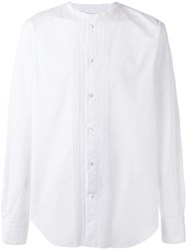Ermanno Scervino Collarless Dinner Shirt White