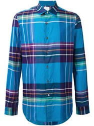 Paul Smith Plaid Shirt Blue
