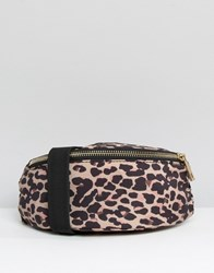 Asos Lifestyle Leopard Print Nylon Bum Bag Multi