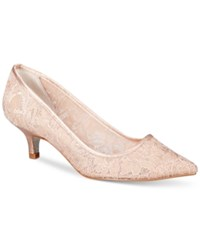 Adrianna Papell Lois Lace Evening Pumps Women's Shoes Blush
