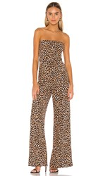 Likely Emile Jumpsuit In Brown. Leopard