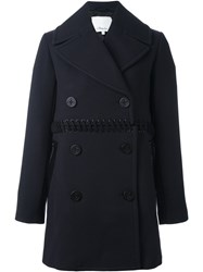 3.1 Phillip Lim Lace Up Detail Coat Blue