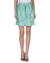 Miriam Ocariz Knee Length Skirts Light Green