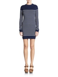 Polo Ralph Lauren Striped Sweater Dress Navy Cream