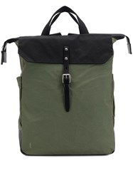 Ally Capellino Structured Square Backpack Green