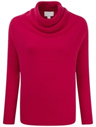 Pure Collection Faber Drape Neck Gassato Cashmere Jumper Dusty Berry