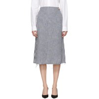 Simon Miller Blue And White Cotton Fitted Skirt