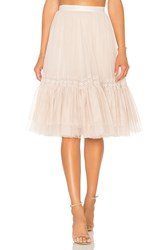 Needle And Thread Lace Tulle Skirt Blush