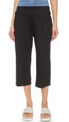 Three Dots Cropped Wide Leg Pants Black