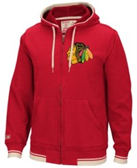 Ccm Men's Chicago Blackhawks Full Zip Hoodie Red