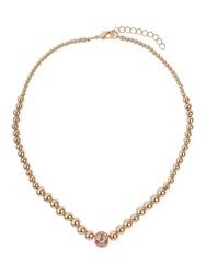 Mikey Large Crystals Ball Metal Chain Necklace