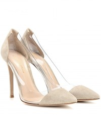 Gianvito Rossi Suede And Transparent Pumps Beige