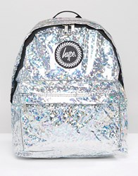 Hype Holographic Galvanised Backpack Galvanised Silver