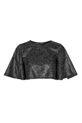 A Line Textured Top By Tfnc Black