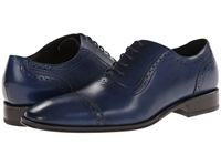 Messico Galiano Blue Leather Men's Flat Shoes