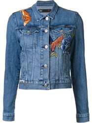 3X1 'Fox' Patches Jacket Blue