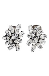 Women's Ben Amun Swarovski Crystal Cluster Clip Earrings