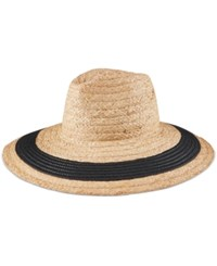 Vince Camuto Nautical Stripe Floppy Sun Hat Black