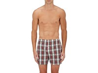 Sleepy Jones Men's Jasper Boxer Shorts Red