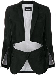 Moohong Deconstructed Blazer Black