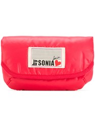 Sonia Rykiel By Logo Patch Make Up Bag Red