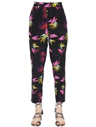 Etro Printed Silk Crepe De Chine Pants