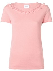 Barrie Cashmere T Shirt Pink And Purple