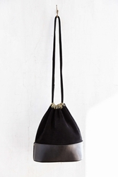 Silence And Noise Silence Noise Suede Draped Bucket Bag Black