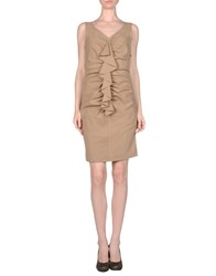 Fairly Dresses Short Dresses Women Camel