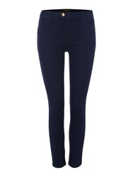 Replay Cropped Super Skinny Fit Touch Jeans Black