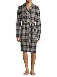 Ugg Jon Plaid Cotton Robe Black Plaid