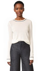 Jenni Kayne Crew Neck Sweater Ivory Navy